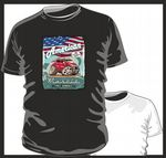 KOOLART AMERICAN MUSCLE CAR Design for H2 Hummer SUV mens or ladyfit t-shirt